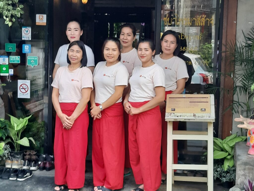 Team Therapists Chaba Prai Massage Chiang Mai